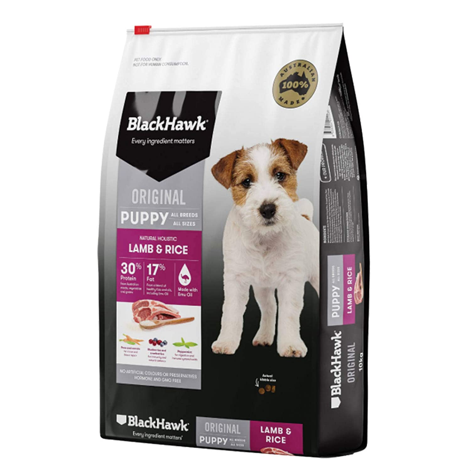 20kg Black Hawk Dog Dry Food, 20.0 kilograms