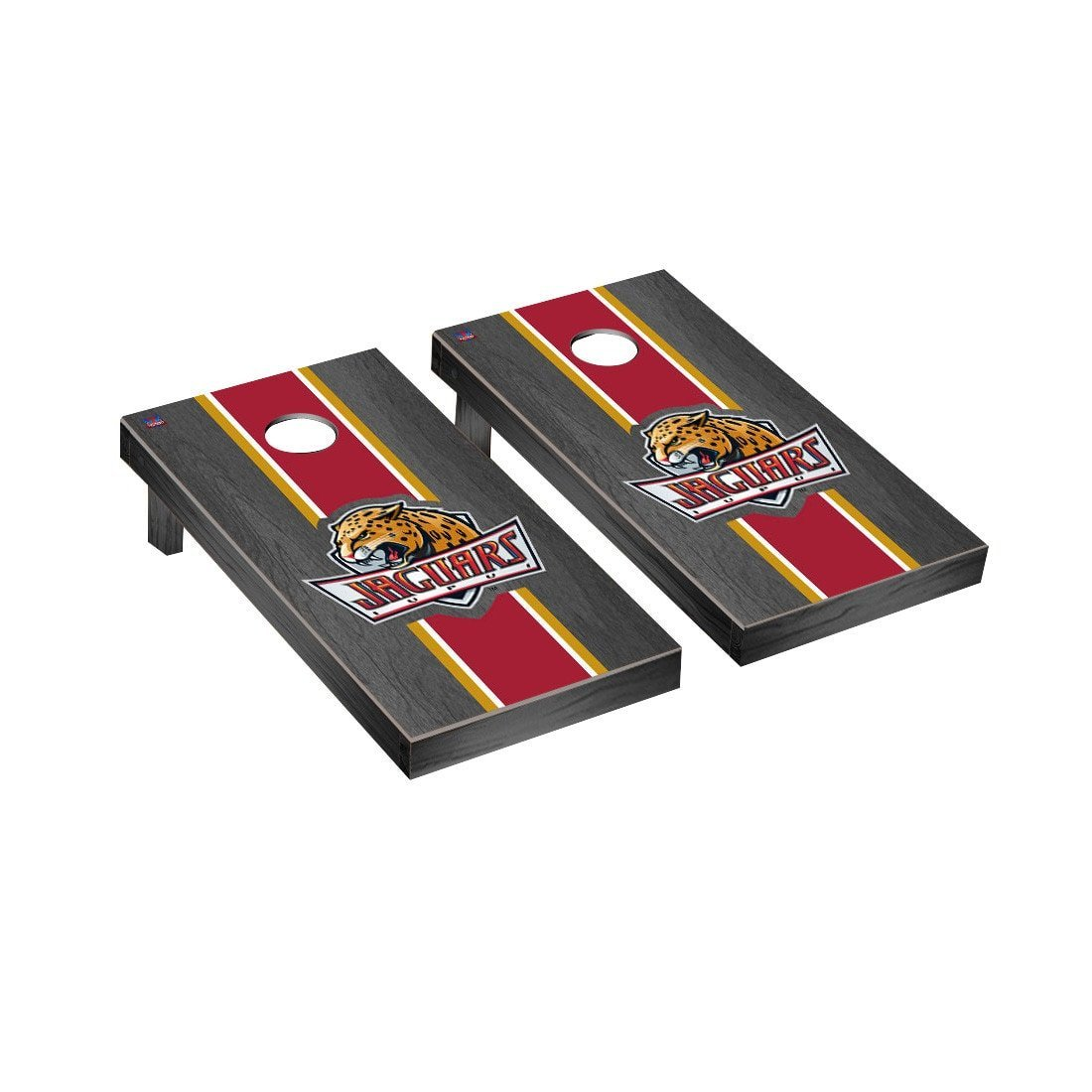 Victory Tailgate Stained Stripe Version Cornhole Game Set Color: Onyx, NCAA Team: Indiana Purdue Jaguars