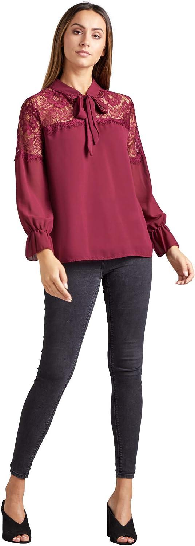 Mela - Camisas - para Mujer Rojo Granate 40: Amazon.es: Ropa ...