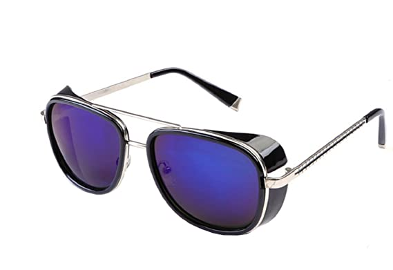 (Silver Frame - Purple Lens 2) Lunettes de soleil - Iron Man - Steampunk cd414e58d56e
