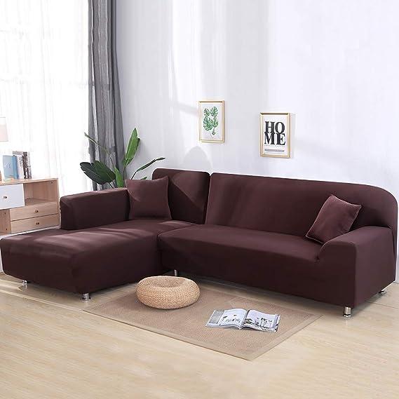 Souarts - Funda de sofá elástica en Forma de L para Esquina ...