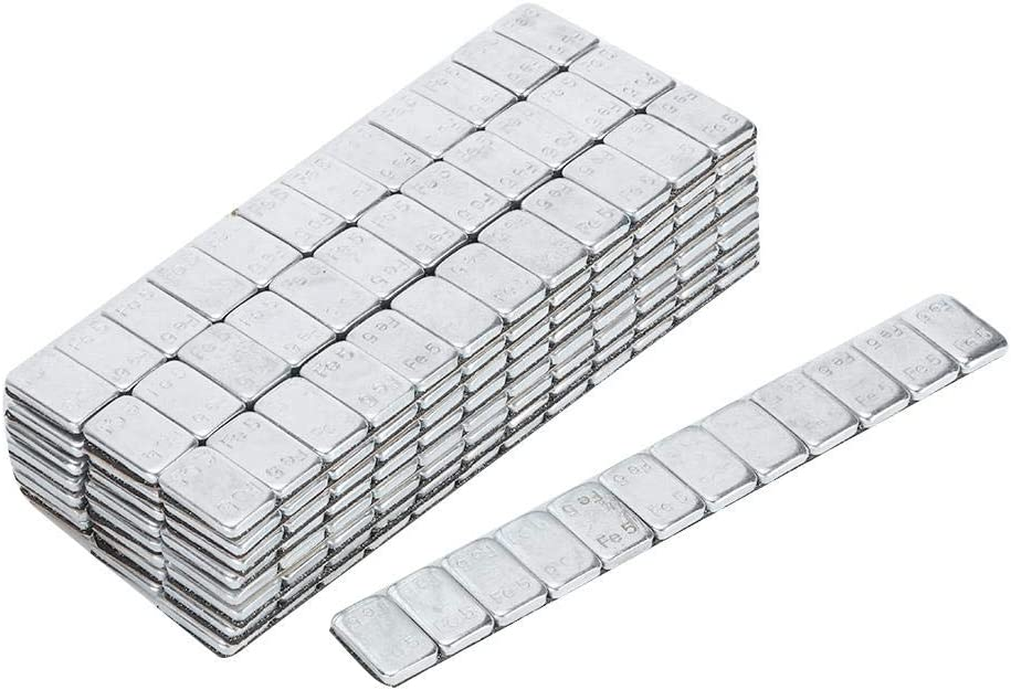 Qiilu Adhesivo para equilibrar el peso de las ruedas 5 g//0.18 oz x 25 Tiras de 60 g//2.12 oz Adhesivo Bloques de equilibrio del cubo de la rueda Equilibrador de equilibrio de peso de 25pcs