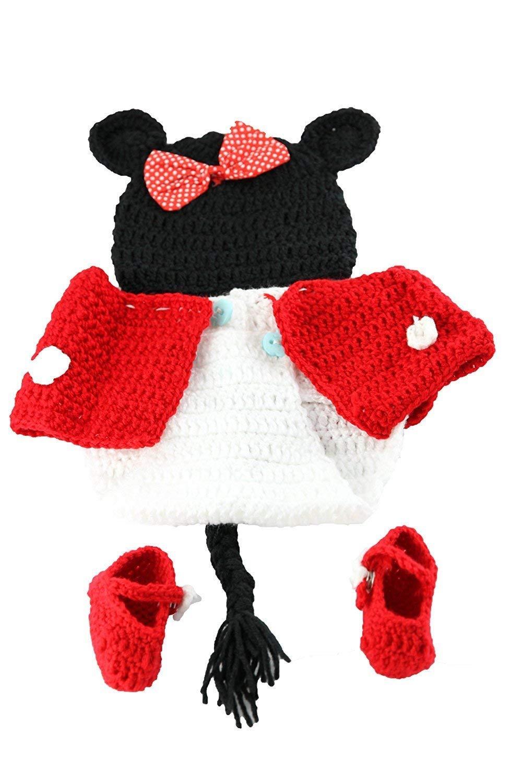 Lindo de la para beb/é Atrezzo fotograf/ía del reci/én nacido hecho a mano de ganchillo Beanie Hat ropa de beb/é