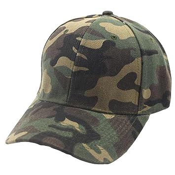 Amlaiworld_Gorras Gorras Beisbol béisbol de Camuflaje Unisex Mujer Hombre Gorra Plano Sombrero de Snapback Ajustable Hip-Hop Sombreros de Malla (Verde): ...