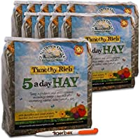10kg Nature's Own Timothy Rich 5 a Day Hay Foraging Feed for Rabbits, Guinea Pigs, Chinchillas & Other Small Pets Animal Food & Tigerbox Antibacterial Pen