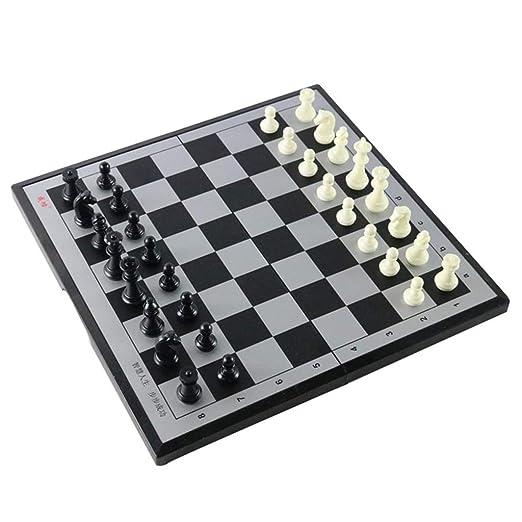GuanJan Kit de Inicio de ajedrez magnético Tablero de ajedrez ...