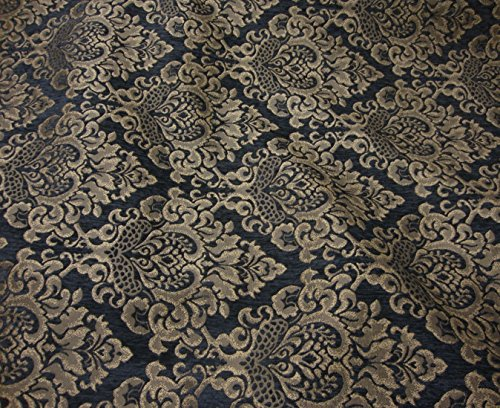 Gold Chenille Upholstery Fabric - 4