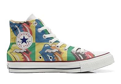 Converse All Star Hi Customized personalisierte Schuhe (Handwerk Schuhe) Rolling Stones