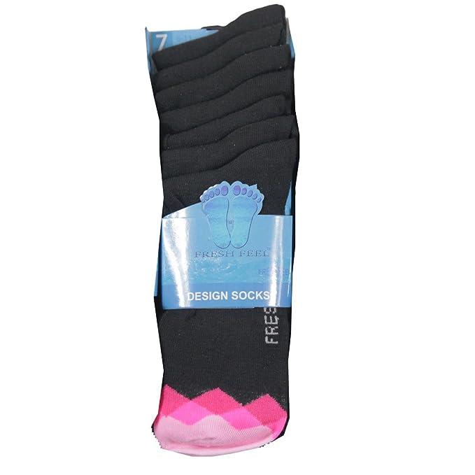 IMTD para hombre 7 pares Funky Argyle brillantes color pie para hombre diseño Diseñador Calcetines 6