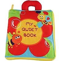 Kakiblin Flower Stereo Book,Fabric Books for Babies,Cloth Books for Babies,Portable Zipper