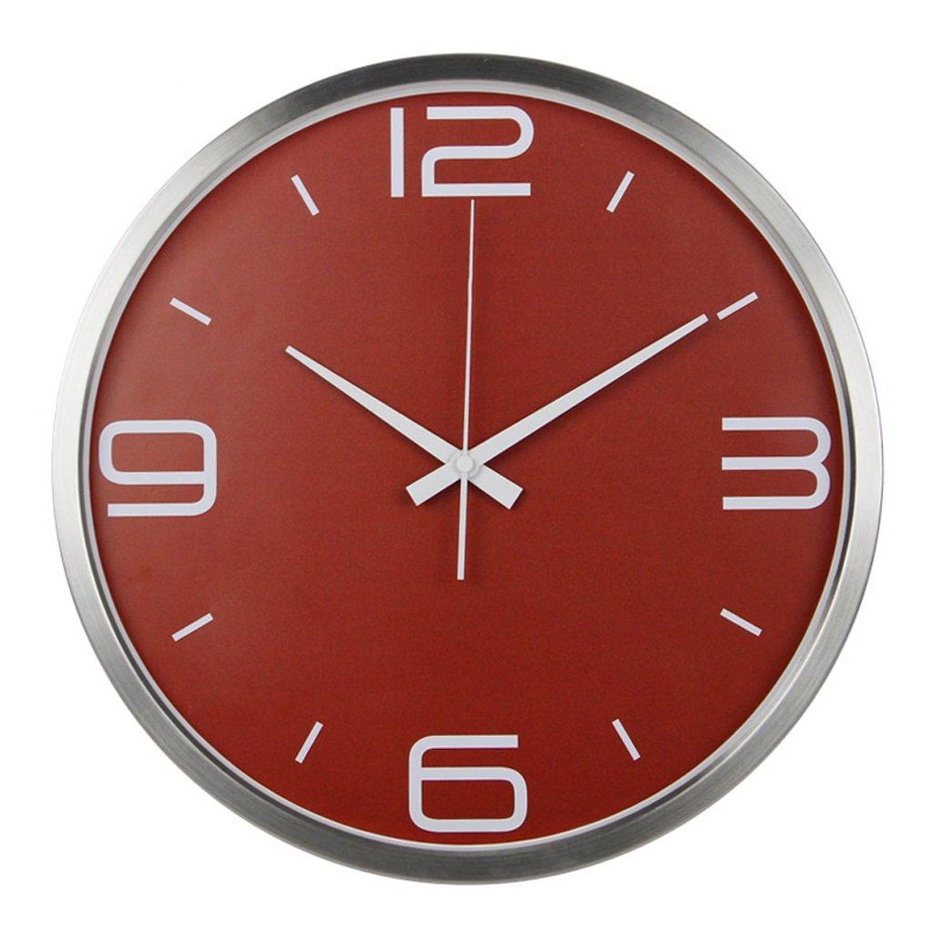 LINGZHIGAN 14インチウォールクロックミュート、リビングルームベッドルーム時計ホームデコレーションファッションシンプルな壁時計レストランウォールクロック ( 色 : シルバー しるば゜ ) B07BTD557C シルバー しるば゜ シルバー しるば゜