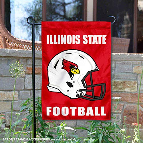 College Flags and Banners Co. Illinois State Redbirds Football Helmet Garden Yard Flag