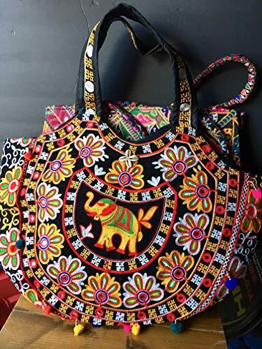 Boho hand embrodery bag Paisley 17 inch Laptop Tote Bag Womens Briefcase Laptop Shoulder Bag 15.6