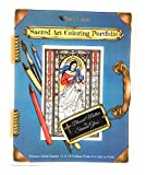 Sacred Art Coloring Portfolio - Blessed Mother in Stained Glass