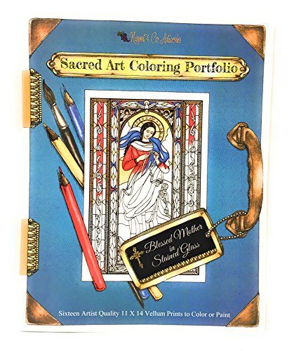 Sacred Art Coloring Portfolio - Blessed Mother in Stained Glass by Nippert & Co. Artworks