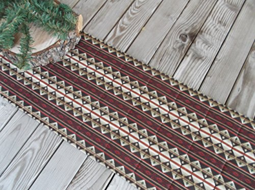 - Striped Ranch Rustic Quilted Fabric Table Runner or Sideboard Runner 72 inches
