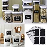 Liangxiang 36 pcs Chalkboard Labels Premium Waterproof Peel and Stick for Jars, Pantries, Craft Rooms
