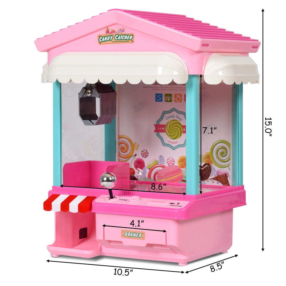 Snow Shop Everything Kids Electronic Claw Toy Grabber Machine Home Arcade w/ Lights & Music & Coins by Snow Shop Everything (Image #1)