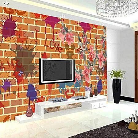 kuamai graffiti wallpaper fashion floral photo wall mural embossedgraffiti wallpaper fashion floral photo wall mural embossed non woven tv background study kitchen wall mural wallpaper bedroom 120x100cm amazon co uk