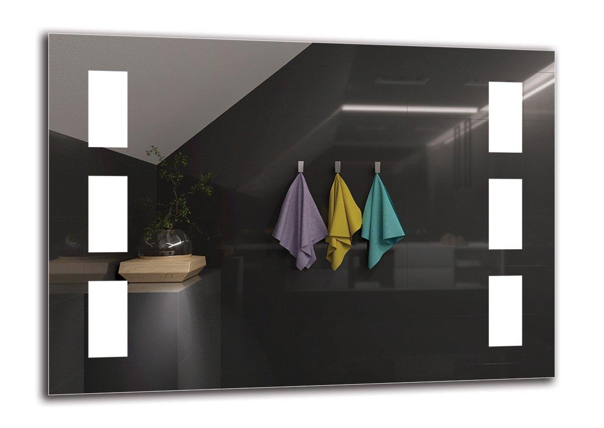 LED Spiegel Premium - Spiegelmaßen 70x50 cm - Badspiegel mit LED Beleuchtung - Wandspiegel - Lichtspiegel - Fertig zum Aufhängen - ARTTOR M1ZP-07-70x50 - Lichtfarbe Weiß kalt 6500K - ARTTOR