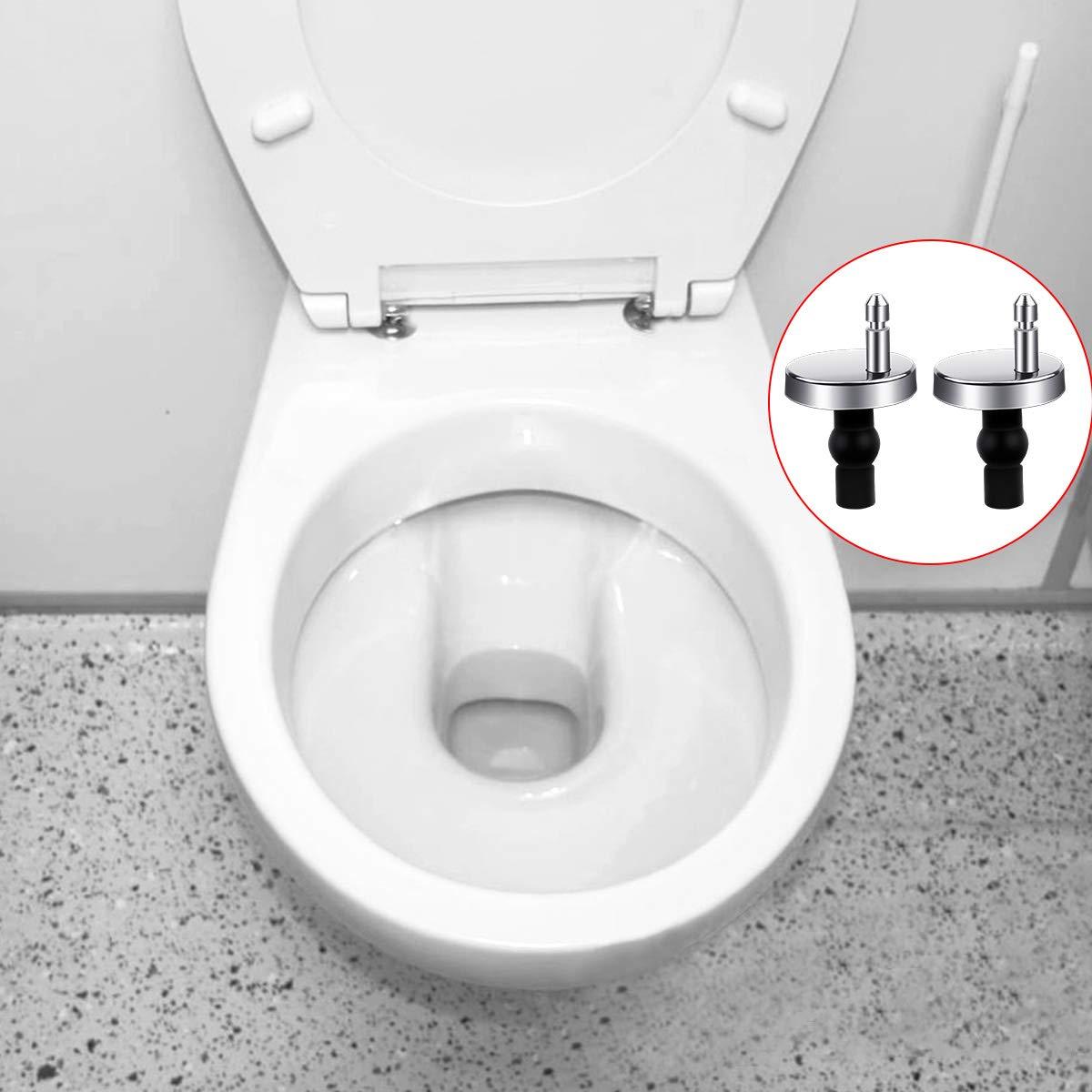 1 paio raccordi e accessori per sedili WC regolabili in lega di zinco cerniere cromate rifinite per sedili WC in resina di legno 2 pezzi