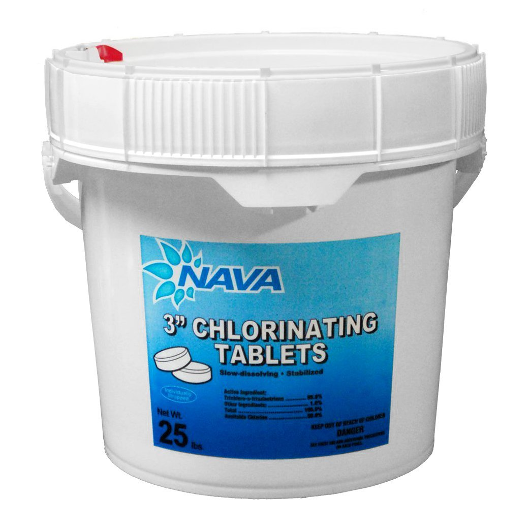 Amazon.com : NAVA 12000295 3 Inch Chlorinating Tablets For Swimming  Pool/Spa, 50 Lbs : Patio, Lawn U0026 Garden
