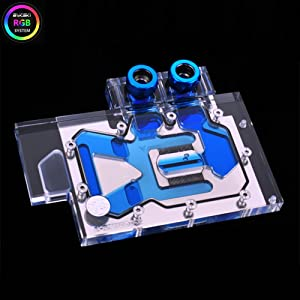 B BYKSKI RGB VGA GPU Water Cooling Block for All Series Reference Version GTX 1060