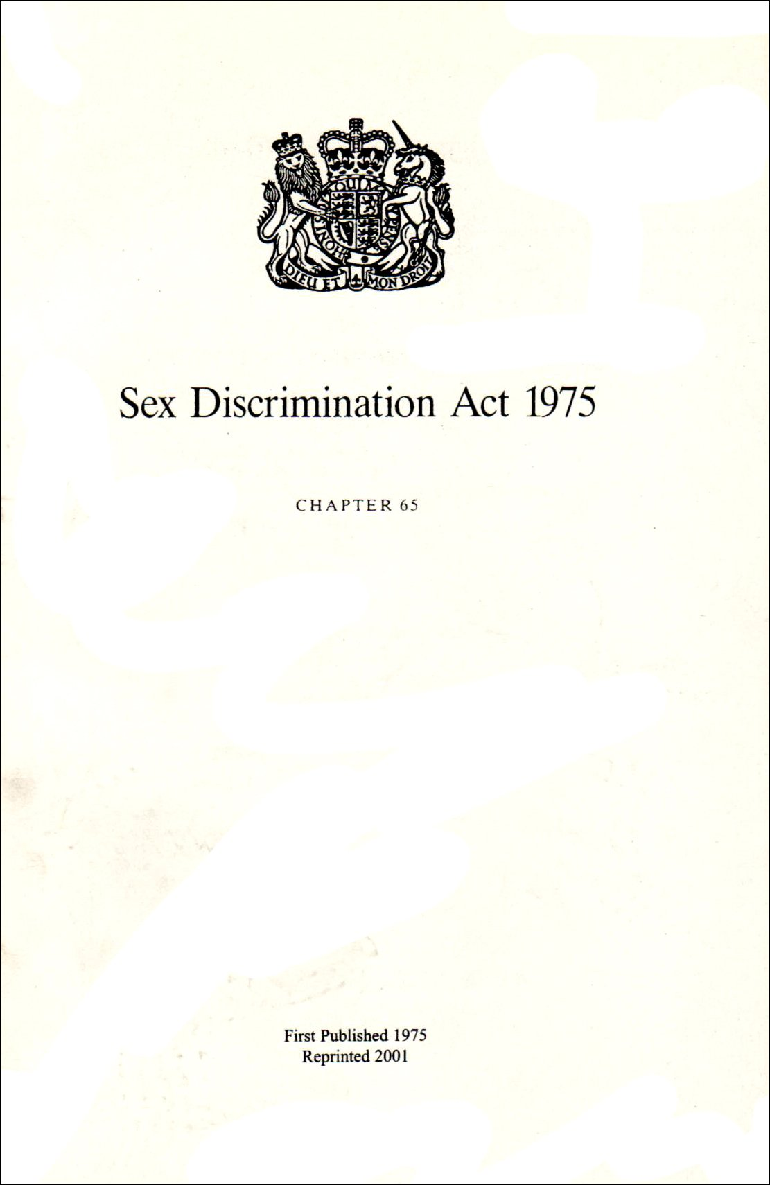 What is sex discrimination act