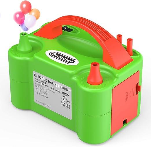 Bomba de Aire Para Globos Maquina de Inflar Pompa Infladora Electrica