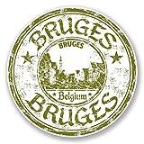 2 x Bruges Belgium Vinyl Stickers