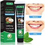 Teeth Whitening Toothpaste, Natural Coconut Activated Charcoal Teeth Whitening Toothpaste, Activated Coconut Shell Eliminates Bad Breath, Coffee & Tea Stains, Oral Germs