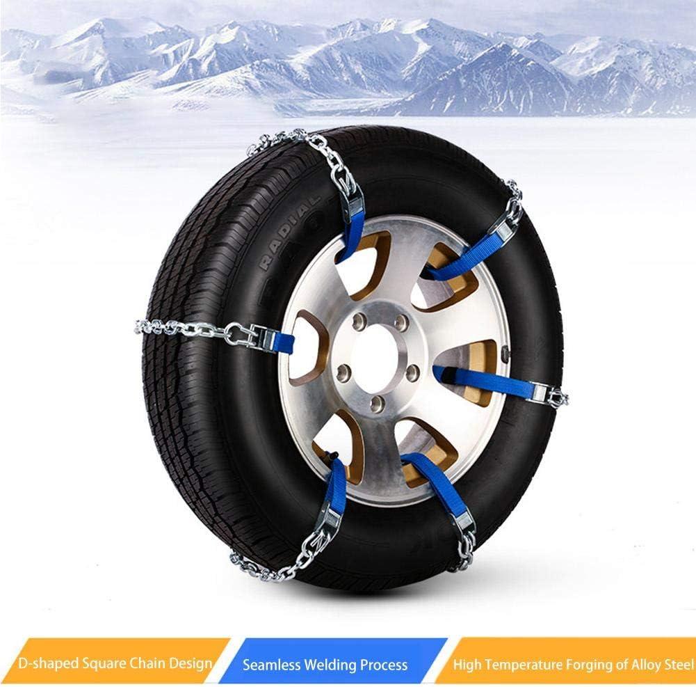 Universal Winter Anti-Skid Reifen Ketten Tragbare Reifenkette F/ür SUV LKW Auto Notfall Rad CampHiking 6 ST/ÜCKE Schneeketten F/ür Autos Stahl, S//M//L-165to285