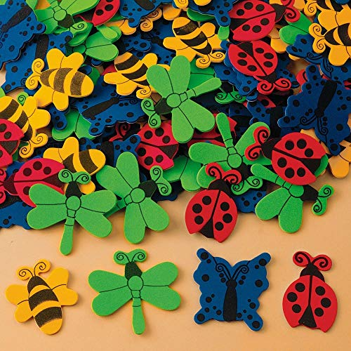 (Color Splash! Foam Shapes w/Adhesive - Bugs and Butterflies )