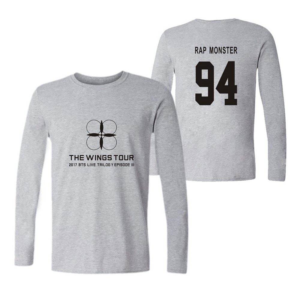 Haililais BTS Camisetas de Manga Larga Hombres Tshirt Estampados Blusas Sencillos T-Shirt Tops Cuello Redondo Camisetas Hipster: Amazon.es: Ropa y ...