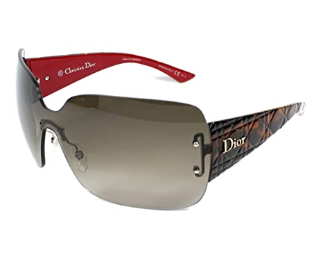 15fa5ca2b668 Image Unavailable. Image not available for. Color  CHRISTIAN DIOR LadyLady  3 Red Tortoise Gradient Shield Rimless Women Sunglasses
