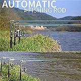 Lightweight Stainless Steel Automatic Fishing Rod Sea River Lake Fishing Pole 2.1m