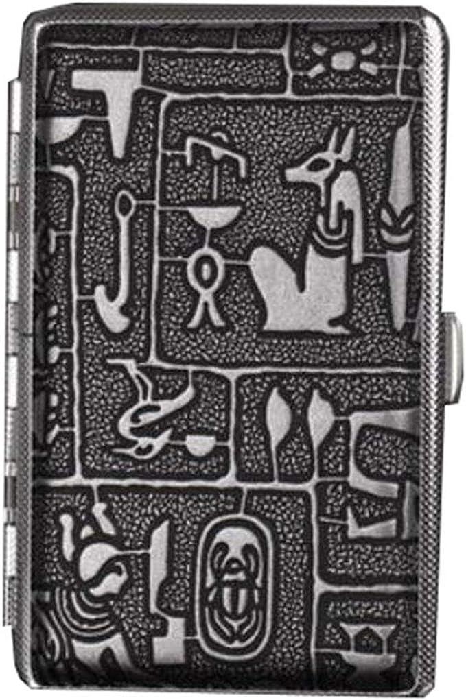 Caja de almacenamiento de cigarrillos de regalo de negocios para hombres Estuche de cigarrillos Caja de almacenamiento de metal de cuero delgado para 20 cigarrillos largos y delgados (plateado): Amazon.es: Ropa y