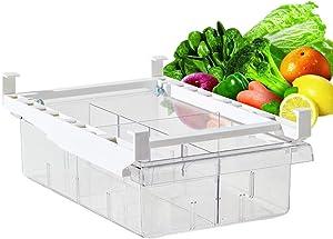 "Fridge Organizer-Pull-out Refrigerator Organizer Bins, Freely Pullable Refrigerator Storage Box for Fruit, Yogurt, Snacks, Pasta, Egg- Food Safe, BPA Free, 12"" x7.9""x3.7"""