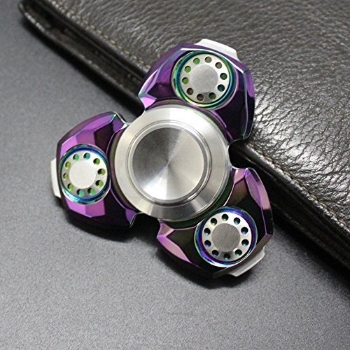 Nitride Plating - FREELOVE Diamond Plating Russia UFO Triangle Design Fidget Spinner, German Silicon Nitride Ceramic Bearing ,Spin Time 6-8 minutes,Premium EDC Disassemble Stress Reducer(Mirror Rainbow Color, Brass)