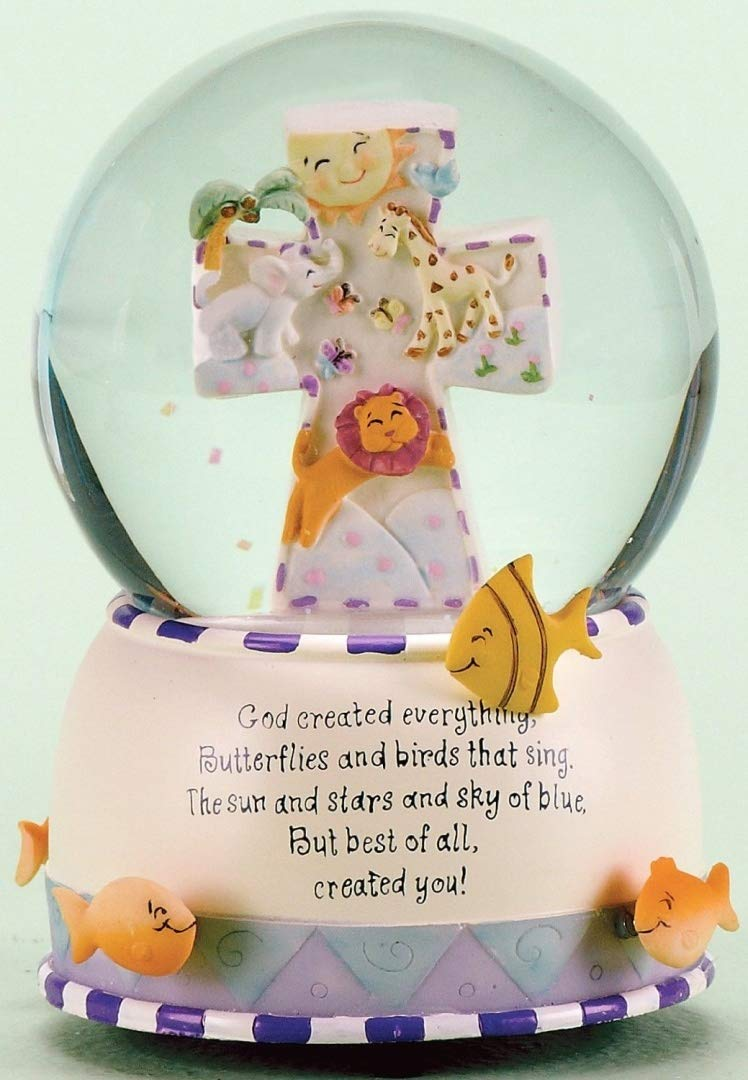 Musical ''God Created Everything'' Water Globe