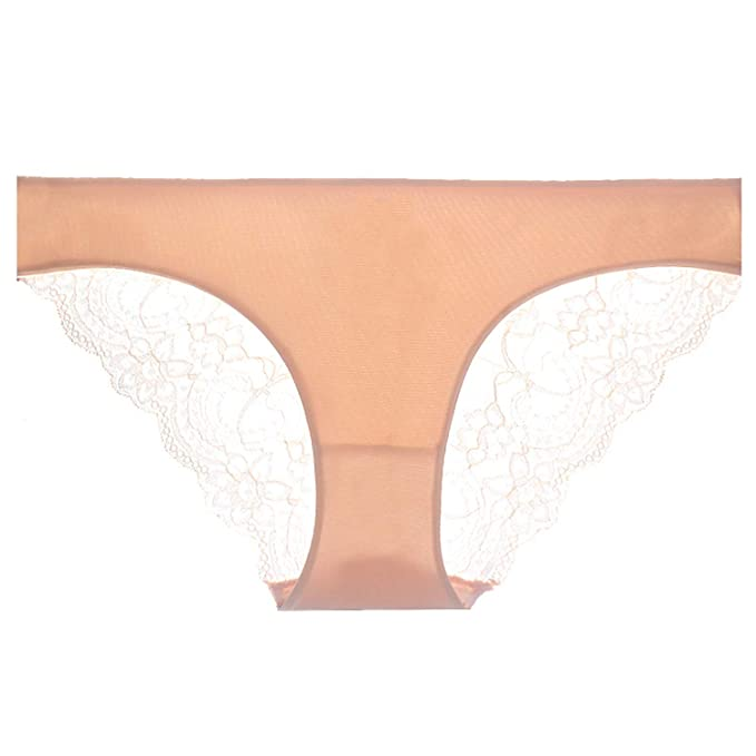 81641bc1bf89 Image Unavailable. Image not available for. Color: S-3XL Women's Sexy Lace  Panties Seamless Cotton Breathable Panty Hollow Briefs Plus Size Girl