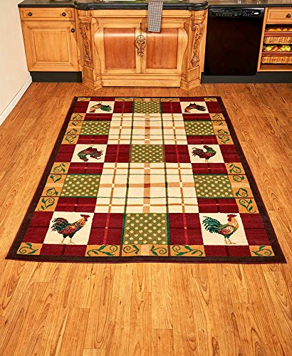"The Lakeside Collection 63""x90"" Country Area Rugs Rooster"