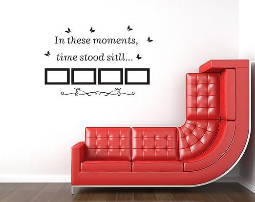 En estos momentos la lengua al portaretrato mariposa pegatinas de pared, decorar la sala de estar dormitorio piso removible pared de PVC adhesivo 60 * 43CM: ...