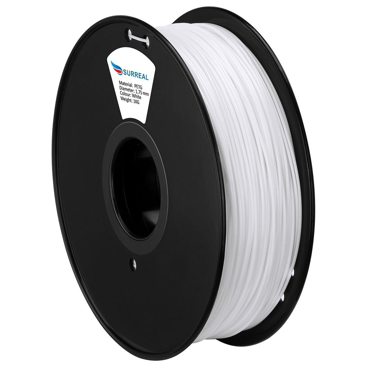 Surreal PETG Filament Rolle 1,75mm 1 KG Transparet Gelb f/ür 3D-Drucker