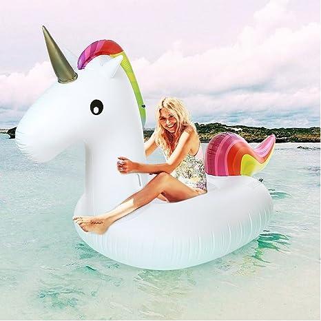 Unicornio Gigante Flotador Hinchable - ¡Gran Accesorio Divertido Para La Piscina, La Playa O