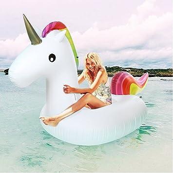 Unicornio Gigante Flotador Hinchable - ¡Gran Accesorio Divertido Para La Piscina, La Playa O Una Fiesta De Verano!: Amazon.es: Juguetes y juegos