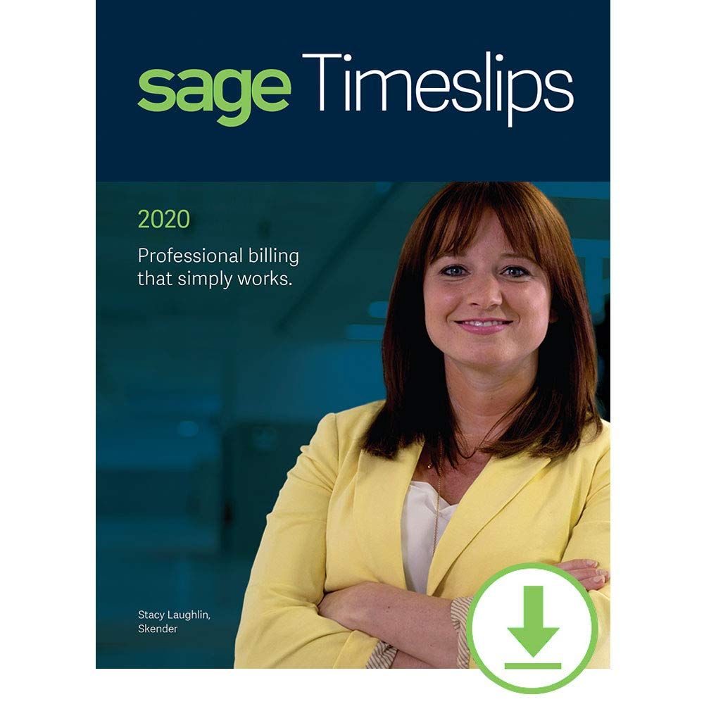 Sage Timeslips 2020 Time and Billing 1-User [PC Download] by Sage Software