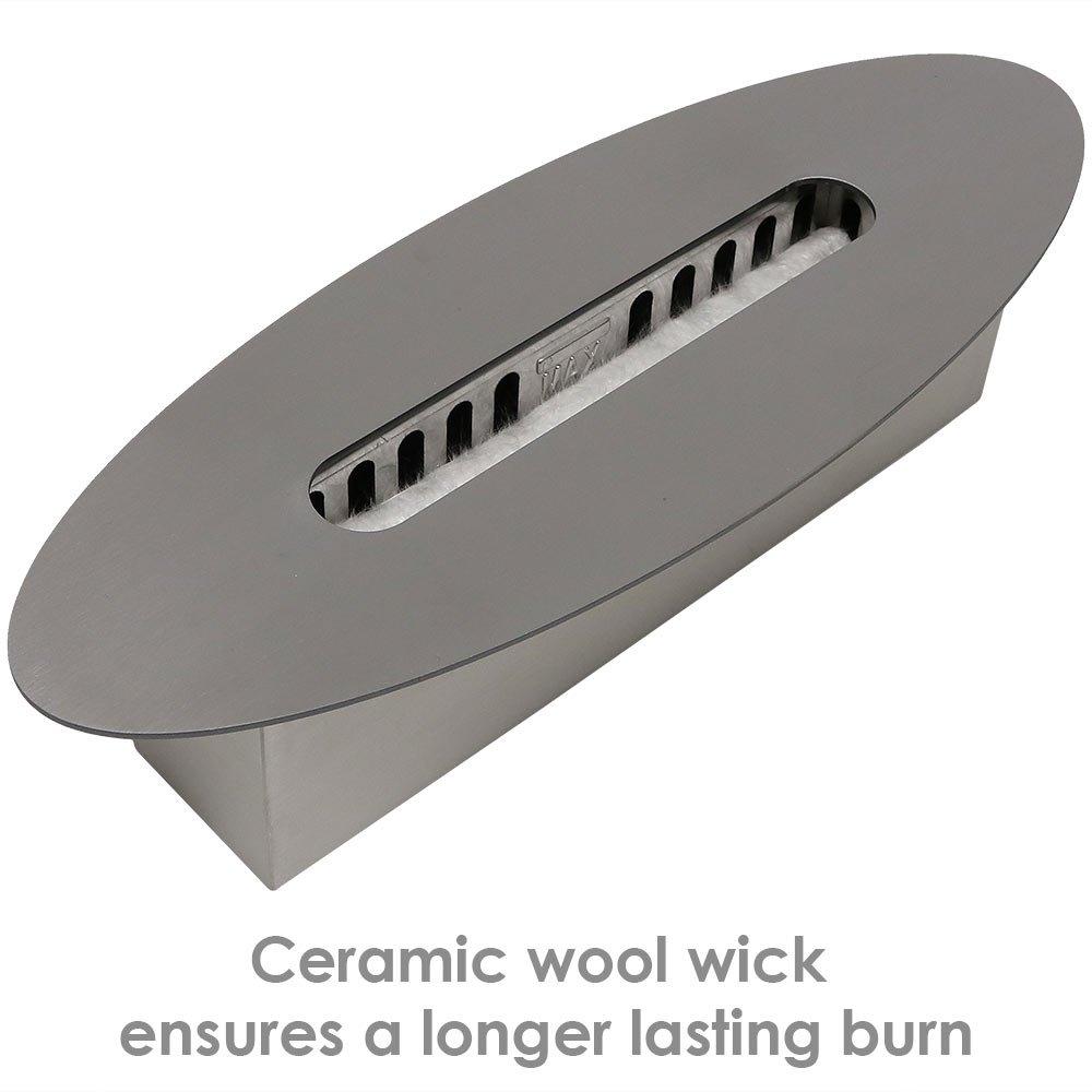 Sunnydaze Barco Ventless Tabletop Bio Ethanol Fireplace, Black by Sunnydaze Decor (Image #4)