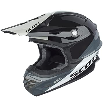 Scott 350 Pro Trophy MX Enduro Moto/Bike Casco Negro/Blanco 2016, todo