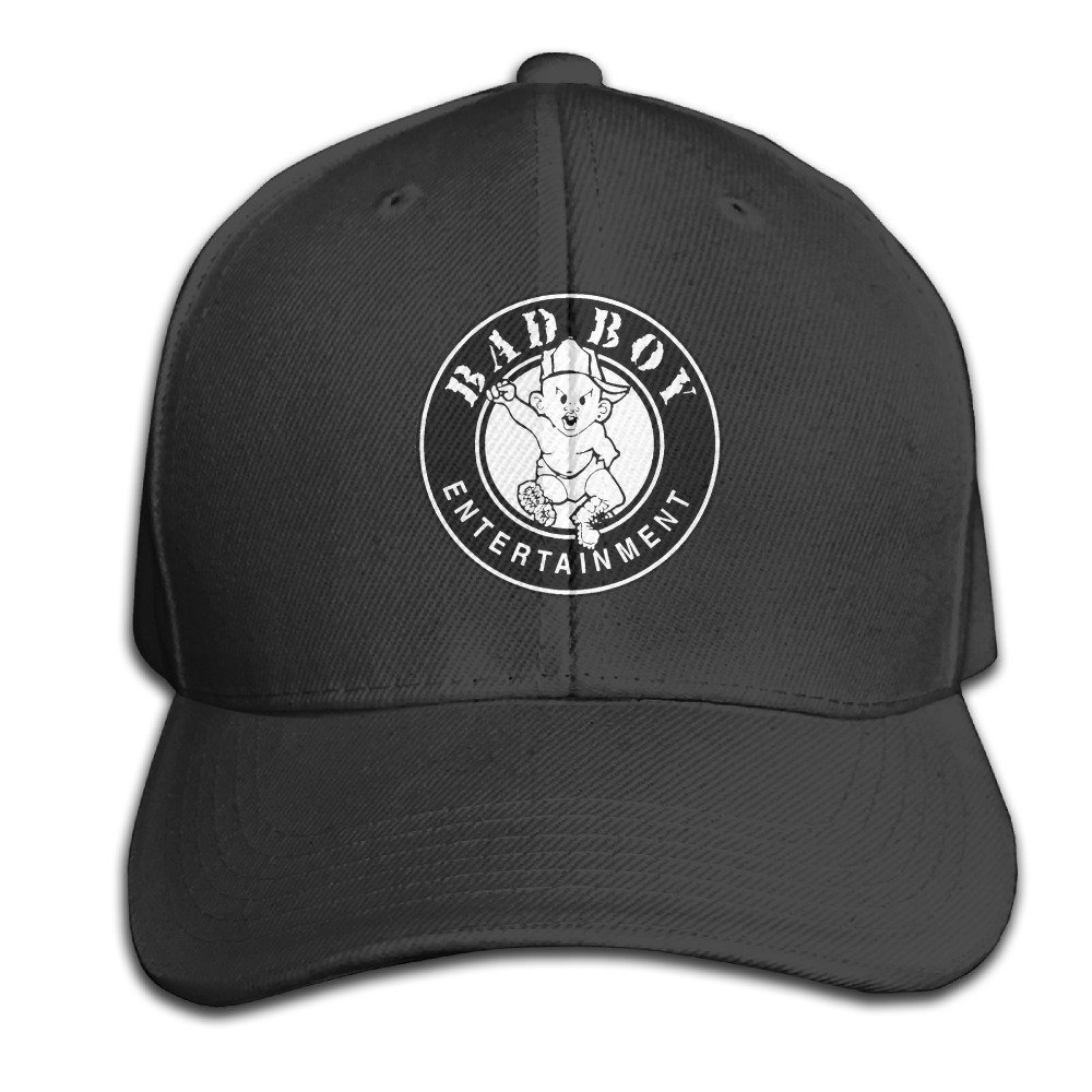 be4e1151ef0 Feruch BACADI Unisex Puff Daddy Bad Boy Entertainment Adjustable Peaked Baseball  Caps Hats Duck Tongue Hat Black  Amazon.co.uk  Clothing